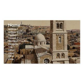 Iglesia del salvador del St., Jerusalén, Tierra Sa Tarjeta De Visita