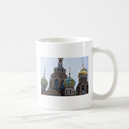 Iglesia del salvador en la sangre derramada Rusia Taza De Café