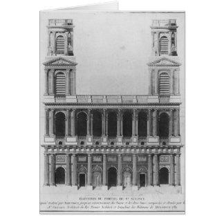 Iglesia del Santo-Sulpice Tarjeta De Felicitación