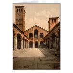Iglesia del St Ambrosius, Milano, Lombardía, Tarjeta De Felicitación