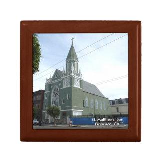 Iglesia del St. Matthews Joyero Cuadrado Pequeño