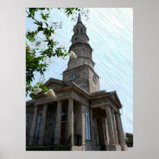 Iglesia del St. Philips en Charleston Posters