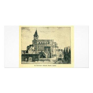 Iglesia del St. Simeon (Nigra) de Porta Treve o Tr Tarjetas Fotograficas Personalizadas