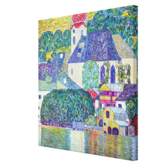 Iglesia del St. Wolfgang de Gustavo Klimt, arte Impresiones De Lienzo