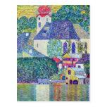 Iglesia del St. Wolfgang de Gustavo Klimt, arte Postal