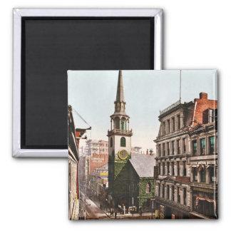 Iglesia del sur vieja Boston 1900 - vintage Imán Para Frigorifico