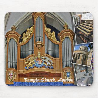 Iglesia del templo, mousepad del órgano de Londres
