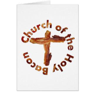 Iglesia del tocino santo tarjeta de felicitación