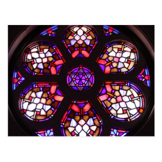 Iglesia del Valle Rosary Window Postcard