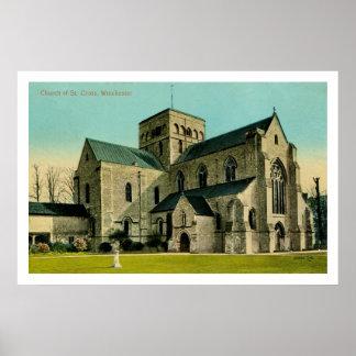 Iglesia del vintage de la cruz del St., Winchester Impresiones