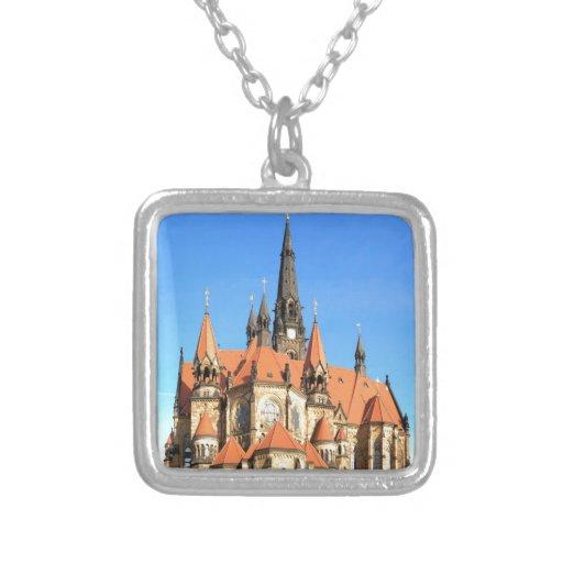 Iglesia Dresden Alemania de la guarnición de la pa Colgante Cuadrado