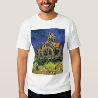 Iglesia en Auvers de Vincent van Gogh Playera