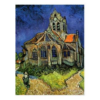 Iglesia en Auvers de Vincent van Gogh Postal