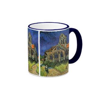 Iglesia en Auvers de Vincent van Gogh Taza A Dos Colores