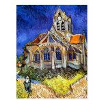 Iglesia en Auvers Postales