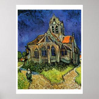 Iglesia en Auvers, Póster