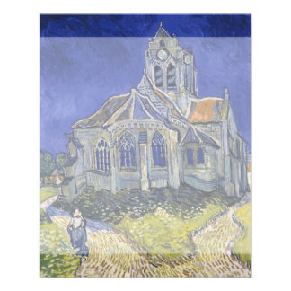 Iglesia en Auvers-sur-Oise de Vincent van Gogh Tarjetas Publicitarias