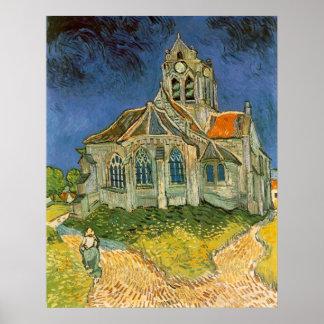 Iglesia en Auvers-sur-Oise de Vincent van Gogh Póster