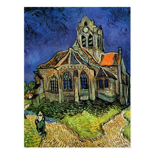 Iglesia en Auvers, Tarjeta Postal