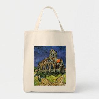 Iglesia en Auvers, Van Gogh, impresionismo del Bolsa De Mano