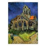 Iglesia en Auvers, Van Gogh, impresionismo del Tarjetón