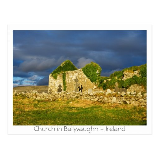 Iglesia en Ballyvaughn Tarjetas Postales
