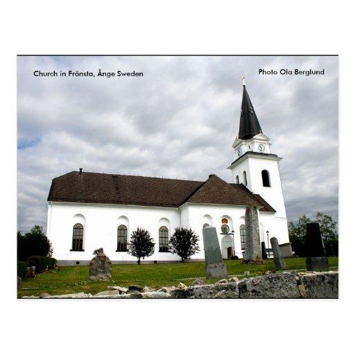 Iglesia en Fränsta, Ånge Suecia,… Tarjetas Postales