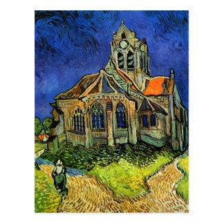 Iglesia en la bella arte de Auvers Van Gogh Postales