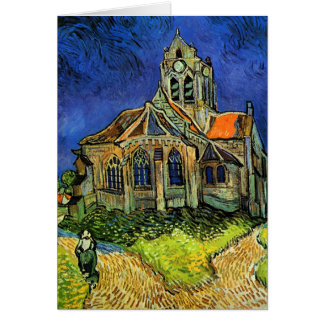 Iglesia en la bella arte de Auvers Van Gogh Tarjeta Pequeña
