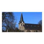iglesia en la primavera temprana 2 tarjeta personal
