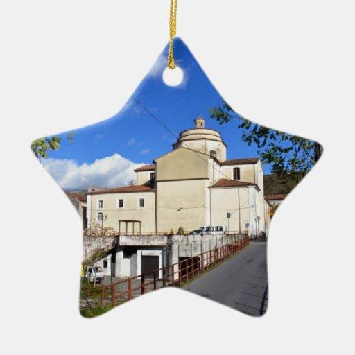Iglesia en Laino Borgo Adorno Navideño De Cerámica En Forma De Estrella