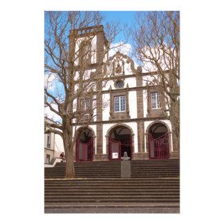 Iglesia en las islas de Azores Fotografía
