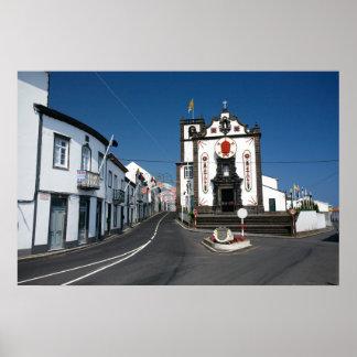 Iglesia en las islas de Azores Posters