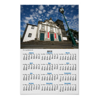 Iglesia en Ribeira grande Posters