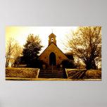 Iglesia en Sepiatone Posters