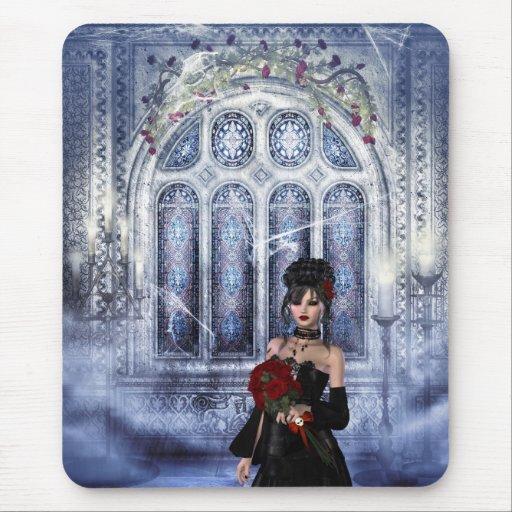 Iglesia espeluznante Mousepad con la novia del gót