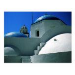 Iglesia Grecia de la isla de Santorini Postal