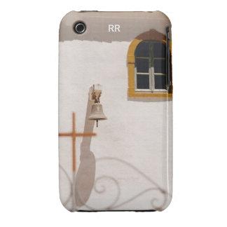 Iglesia griega con la cruz y Bell Paxos Case-Mate iPhone 3 Protector