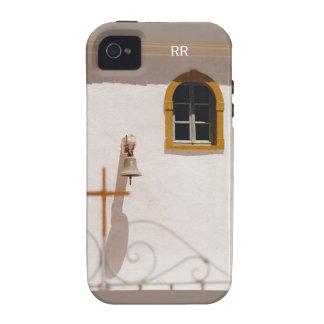 Iglesia griega con la cruz y Bell Paxos Case-Mate iPhone 4 Funda