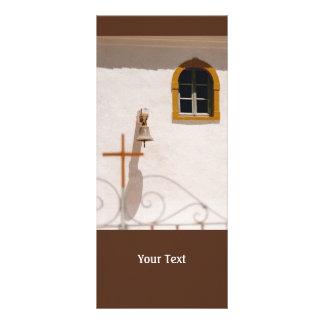 Iglesia griega con la cruz y Bell Paxos Tarjetas Publicitarias Personalizadas