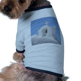 Iglesia griega en Santorini Camiseta De Perrito