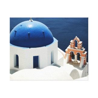 Iglesia griega impresiones en lienzo estiradas