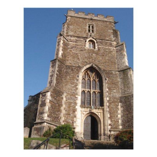 Iglesia histórica en Hastings Inglaterra Membrete