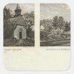 Iglesia holandesa vieja, residencias pegatina cuadrada