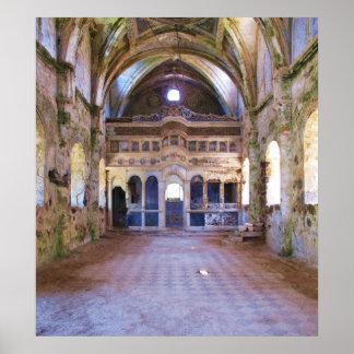 Iglesia interior, abandonada, POSTER de Levissi