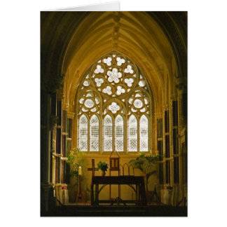 Iglesia irlandesa gótica, Connemara Irlanda Tarjeta De Felicitación