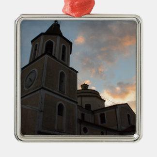 Iglesia italiana hermosa adorno de navidad