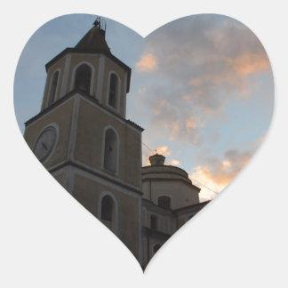 Iglesia italiana hermosa calcomanías corazones personalizadas