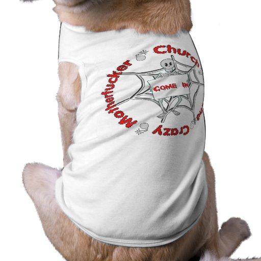Iglesia loca de la frecuencia intermedia ropa de perros