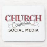 Iglesia - los medios sociales originales tapetes de raton